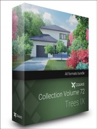 CGAXIS MODELS VOLUME 72 TREES IX (C4D , C4D Vray )