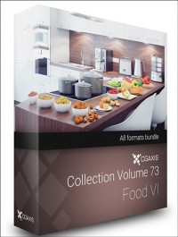 CGAXIS MODELS VOLUME 73 3D FOOD VI ( C4D, C4D Vray )