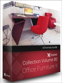 CGAXIS MODELS VOLUME 80 OFFICE FURNITURE II (C4D, C4D Vray)