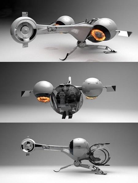 Oblivion Bubbleship 3d Model V 2 1 Parts Rigged
