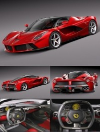 Ferrari LaFerrari 2014 3d Model