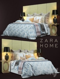 Zara Home Bed 2 3d Model