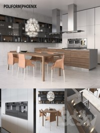 Kitchen Poliform Varenna Phoenix 2 (vray, corona)