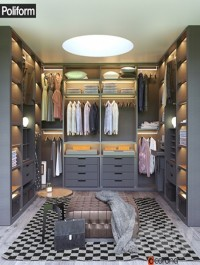 Poliform SENZAFINE walk-in closet
