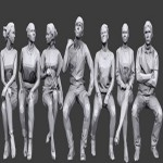 CM Lowpoly People Sitting Pack Vol.5 2194084