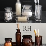 RH / PHARMACY ACCESSORIES AMBER GLASS