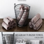 RH 802-GRAM TURKISH TOWEL COLLECTION WITH A BASKET