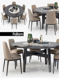 Poliform Sophie chair Home Hotel table