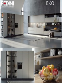 Kitchen Pedini Eko set2 (v-ray)