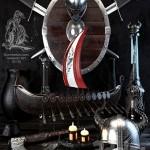 Scandinavian vikings set