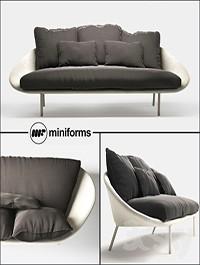 Miniforms LEM-x 3 seater sofa