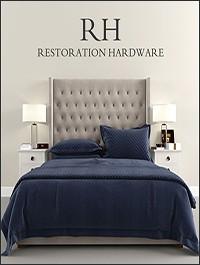 Restoration Hardware Tufted Platform bed