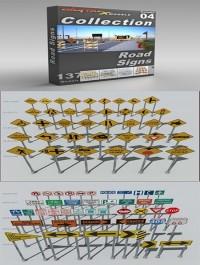 DigitalXModels 3D Model Collection Volume 4: ROAD SIGNS