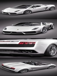 Lamborghini Gallardo LP560-4 Spyder 3D Model