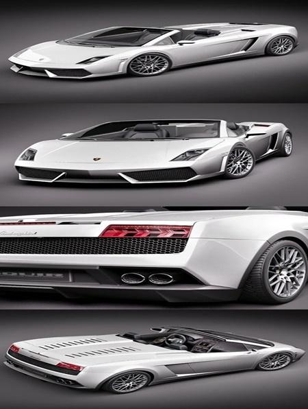 Lamborghini Gallardo Lp560 4 Spyder 3d Model
