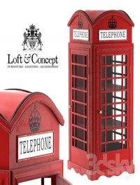 SHOWCASE LONDON TELEPHONE BOX