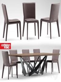 Table and chairs cattelan italia VITTORIA