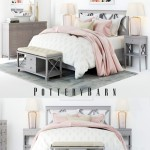 Pottery Barn Clara Lattice Bed set 1