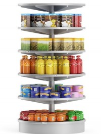Round Market Shelf 3d Model