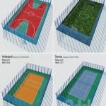 A set of sports fields Set sport playground