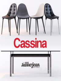 Cassina Caprice Chairs / LC6 Table