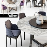 Poliform Grace chair Concorde table