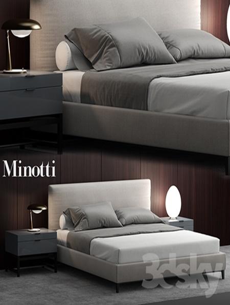Bed Minotti Andersen Bed