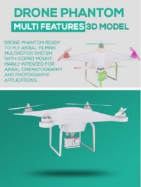 Drone phantom with gopro