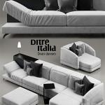 Sofa Dunn pelle ditre italia