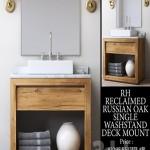 RECLAIMED RUSSIAN OAK SINGLE WASHSTAND DECK MOUNT