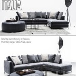 B & B Italia Diwan Ray with pillows