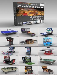 DigitalXModels 3D Model Collection Volume 25: ARCADE GAMES
