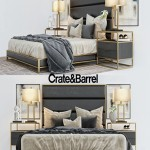 Crate & Barrell oxford collection bed