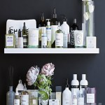 Shelves with cosmetics and bathroom decor 2