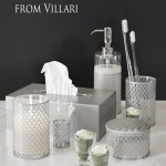 Set of luxury accessories for the bathroom from Florence Villari