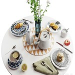 Set of dishes in Scandinavian style