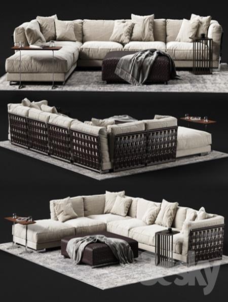 Flexform Cestone Corner Sofa