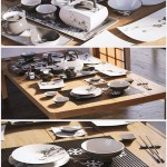 A set of dishes in the Japanese style
