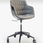MDF italia chair Flow SLIM padded 5-Point Star Base on Castors