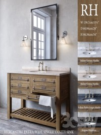 MERCANTILE EXTRA-WIDE SINGLE VANITY SINK