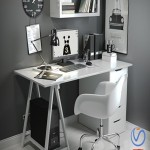 Desk in the Scandinavian style