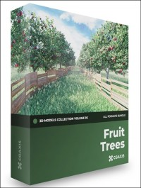 CGAXIS Fruit Trees 3D Models Collection Volume 95