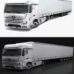 Mercedes Benz Actros 2015 3d Model