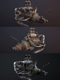 Soviet Rat Rod Engine 3D Model