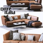 Ditre Italia LENNOX Leather Sofa