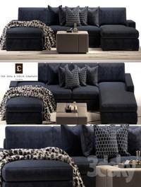 Brancusi corner sofa and Matisse ottoman