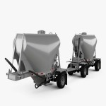 Beall 550 Dry Bulk Double Trailer 2016 3D model