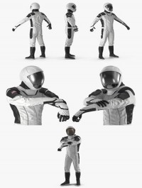 Futuristic Space Suit Rigged 3D Model