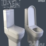 toilet cistern with Villeroy Boch Sentique