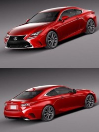 Lexus RC 350 2015 3D Model